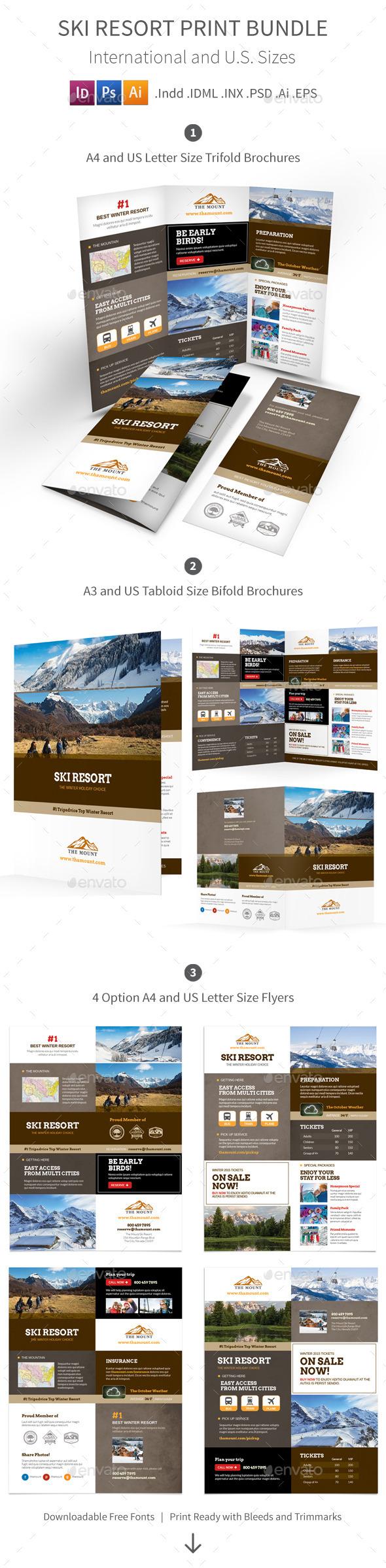 Ski Resort Print Bundle - Informational Brochures