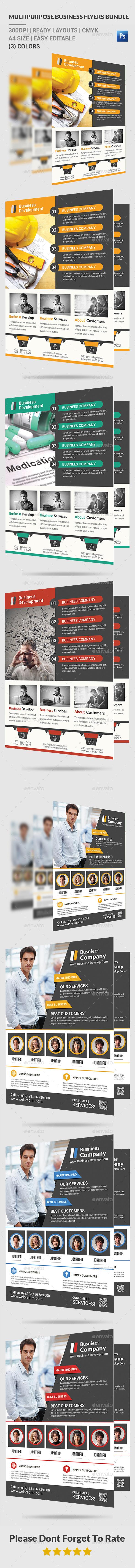 Multipurpose Business Flyers Bundle - Corporate Flyers
