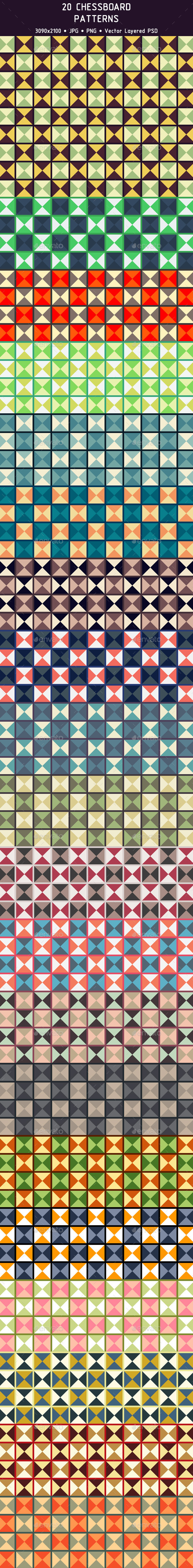 20 Chessboard Patterns