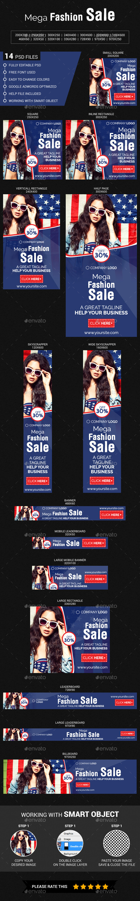 Mega  Fashion  Sale - Banners & Ads Web Elements