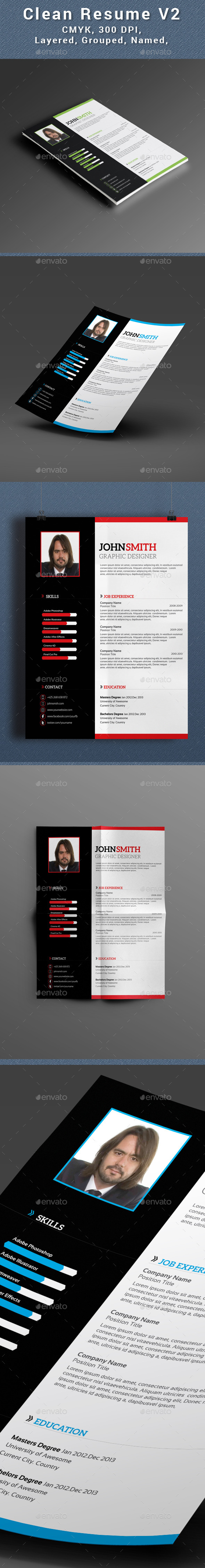 Clean Resume V2 - Resumes Stationery