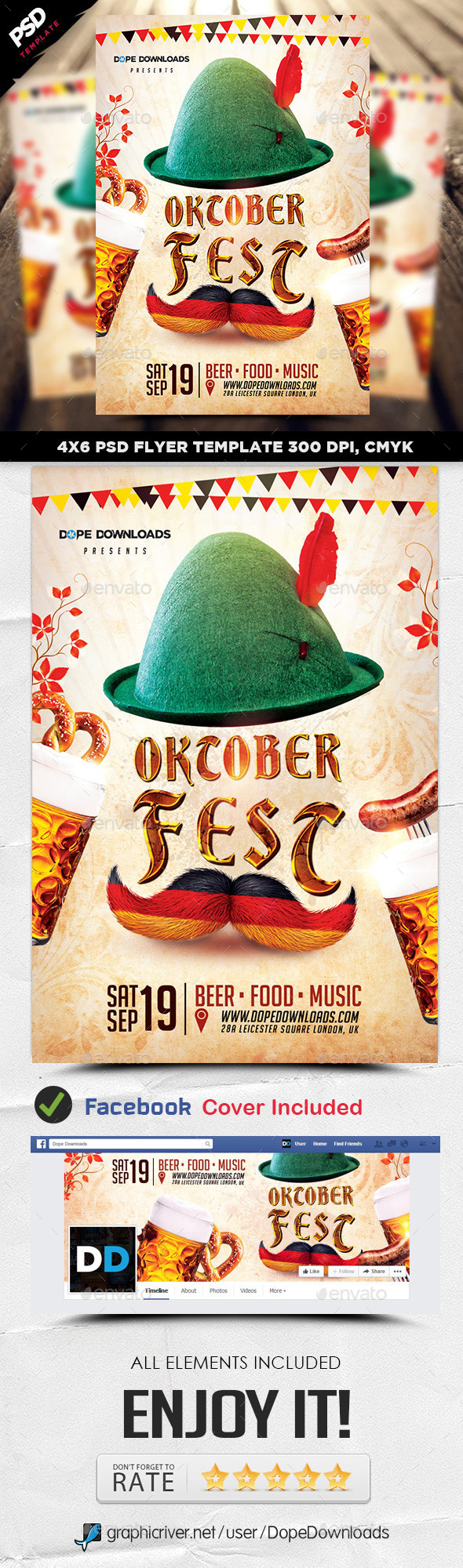 Oktoberfest 2015 Flyer Template - Events Flyers