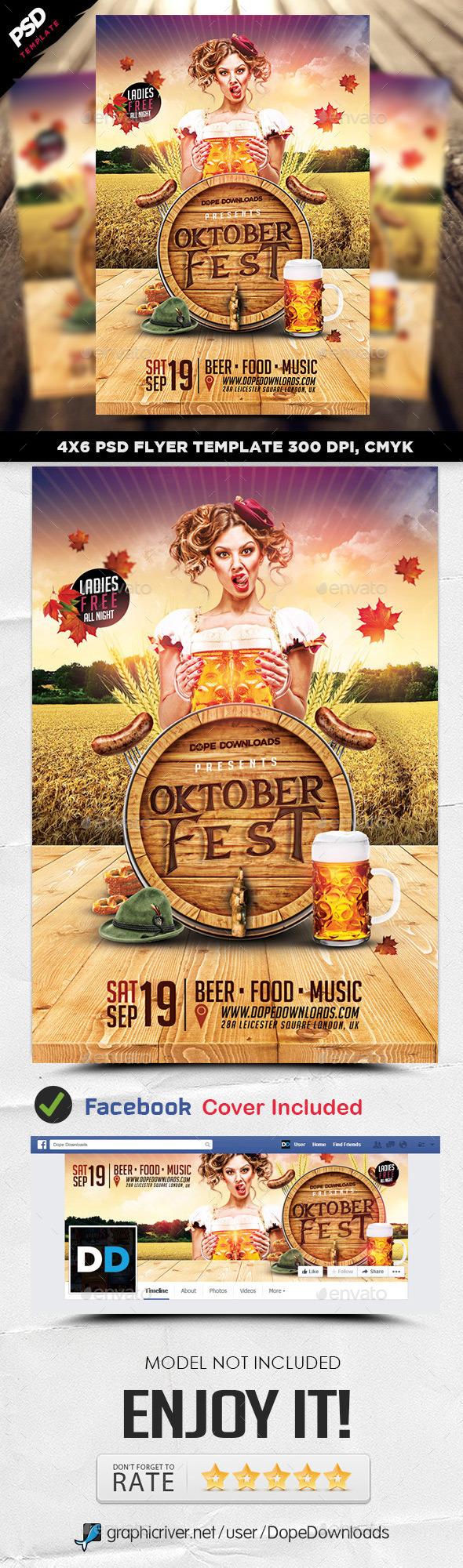 Oktoberfest Weekend 2015 Flyer Template - Clubs & Parties Events
