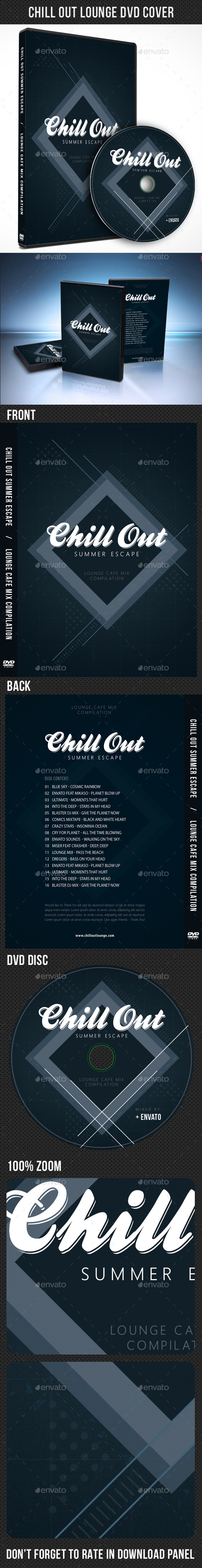 Chill Out Lounge DVD Cover Template - CD & DVD Artwork Print Templates