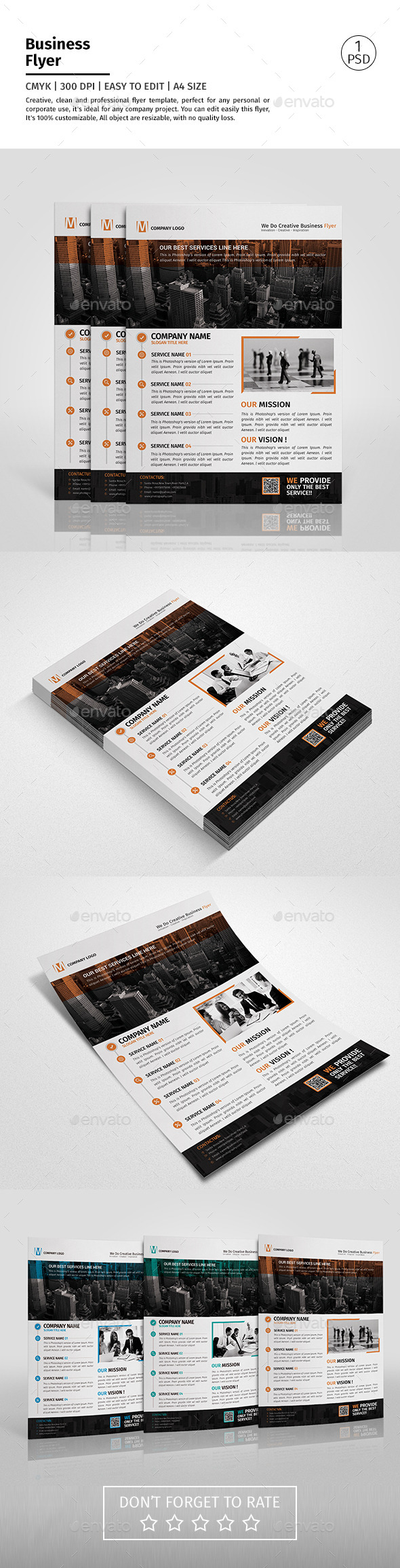 A4 Corporate Business Flyer Template Vol 08 - Corporate Flyers