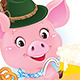 Happy Smiling Piglet with Beer - GraphicRiver Item for Sale