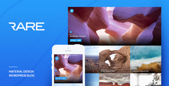 Material Design WordPress Theme - Rare