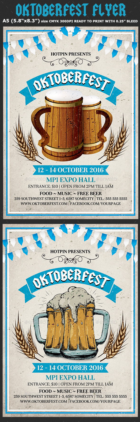 Oktoberfest Flyer Template 4 - Events Flyers
