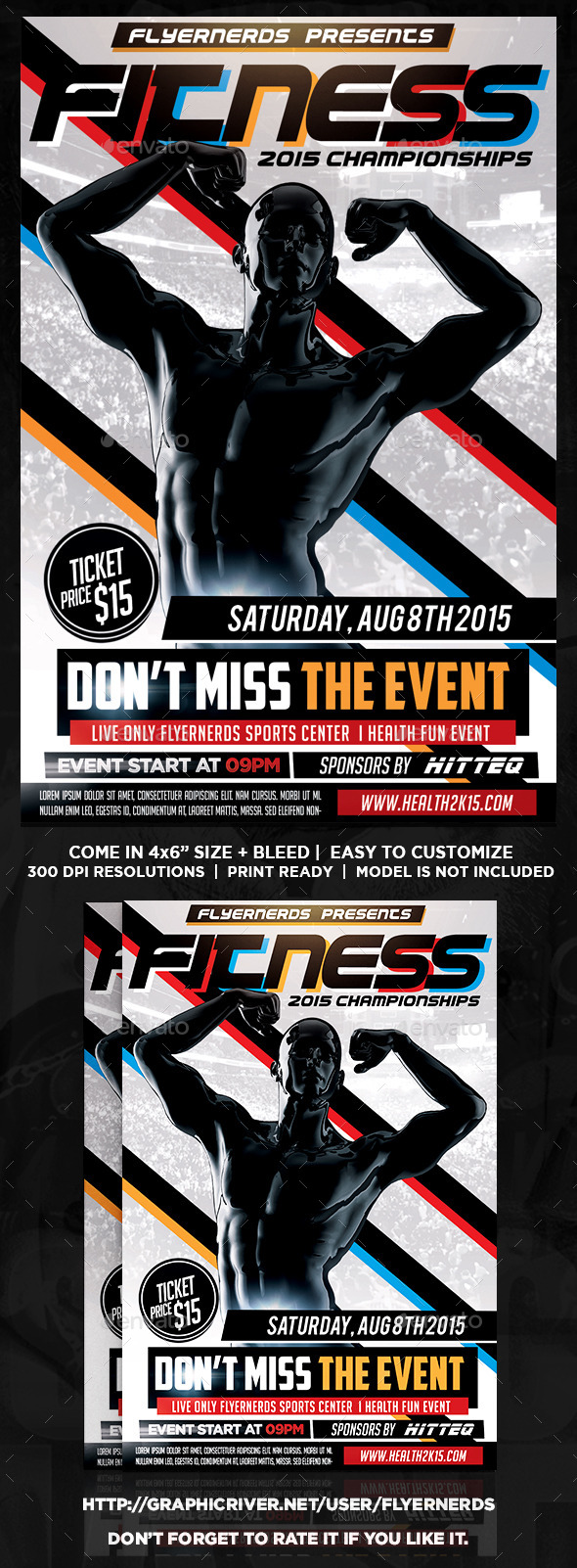 Fitness Championships Sports Flyer - Sports Events