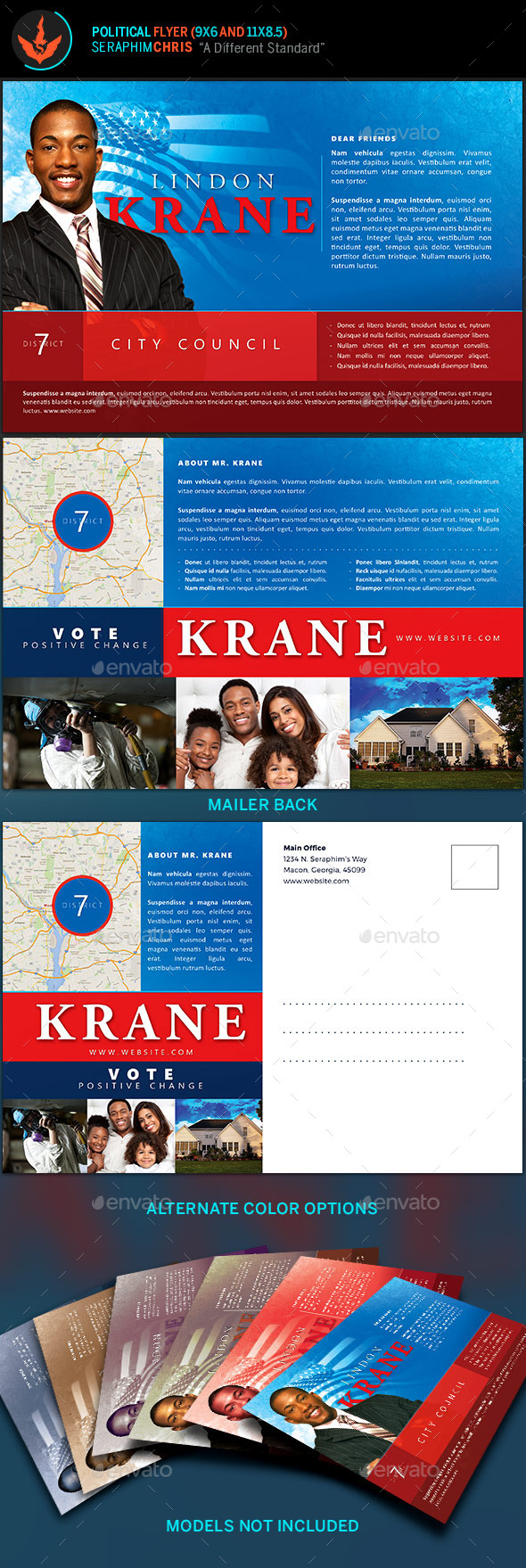 Political 6x9 Flyer Template - Corporate Flyers