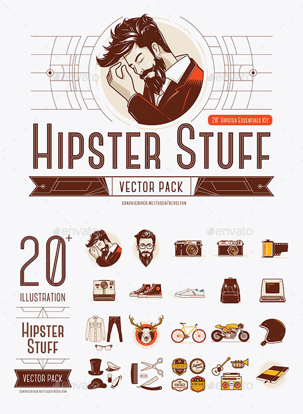 Hipster Stuff Vector Pack