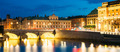 Night View Of Illuminated Old Norrbro Bridge in Stockholm, Swede