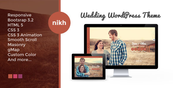 Nikh – Wedding WordPress Theme