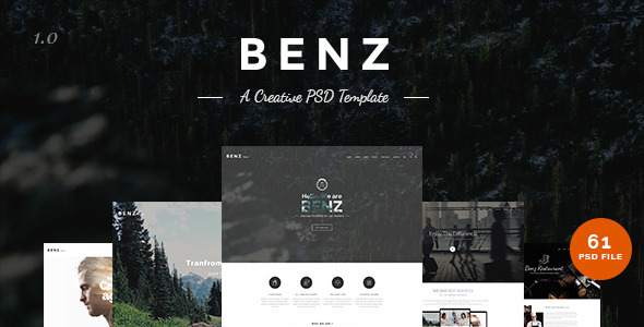 Benz - Creative Multipurpose PSD Templates - Creative PSD Templates