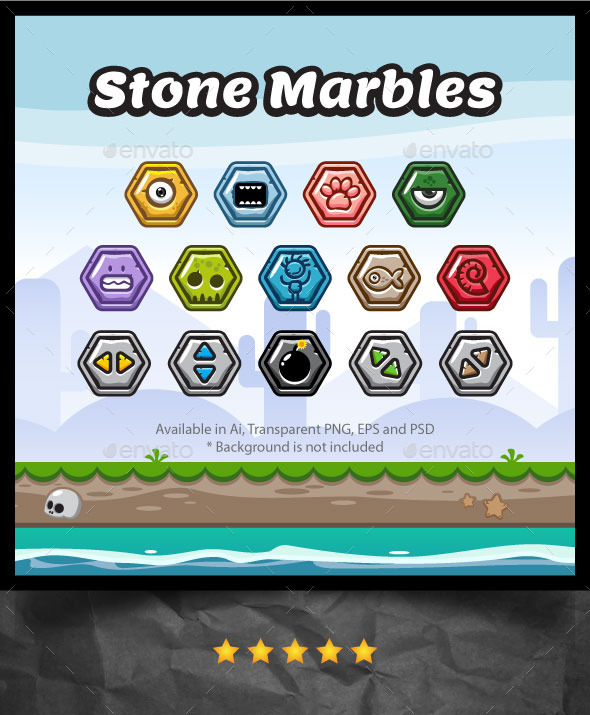Stone Marbles - Miscellaneous Game Assets