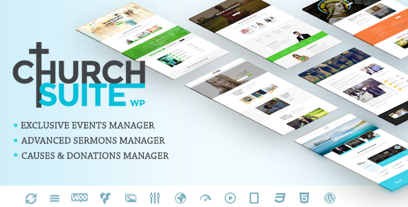 preview wp5.  large preview - Church Suite - Responsive WordPress Theme