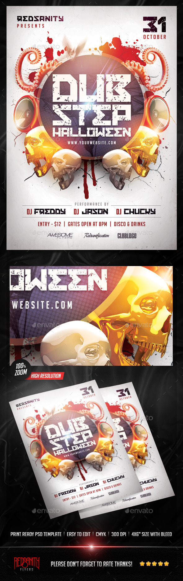 Dubstep Halloween Flyer - Clubs & Parties Events