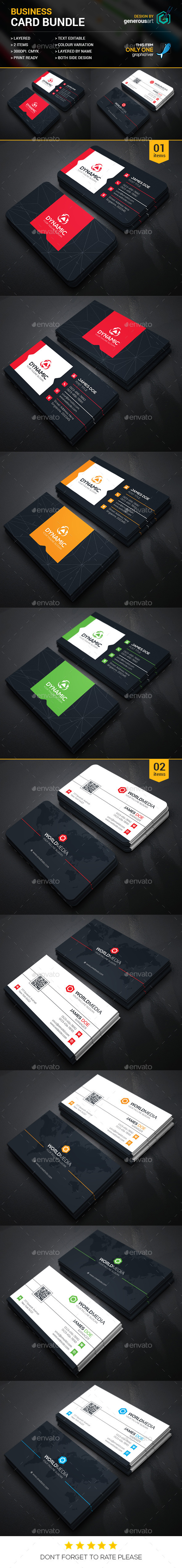Business Card Bundle 2 in 1 Vol 13