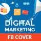 Flat Digital Marketing Facebook Timeline Covers - GraphicRiver Item for Sale