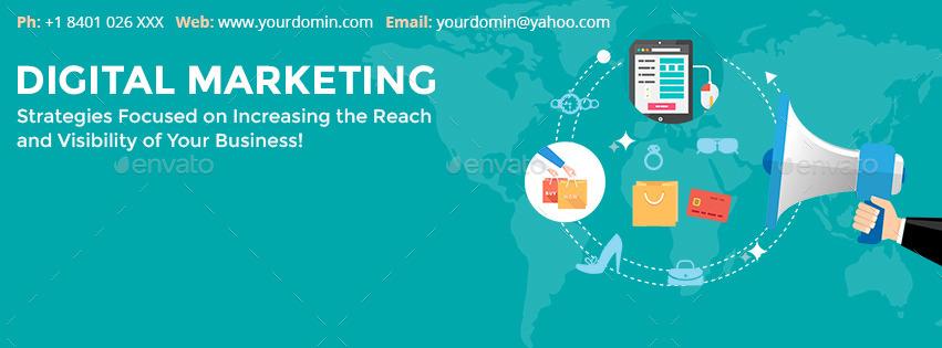 Flat Digital Marketing Facebook Timeline Covers