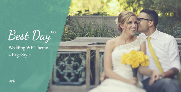 Best Day – Responsive One-Page Wedding Theme