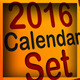 2016 Calendar Set Kare - GraphicRiver Item for Sale