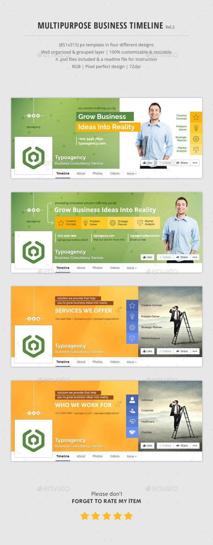 Multipurpose Business Timeline Vol.2 - Facebook Timeline Covers Social Media