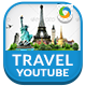 Travel Youtube Channel Art - 6 Designs - GraphicRiver Item for Sale