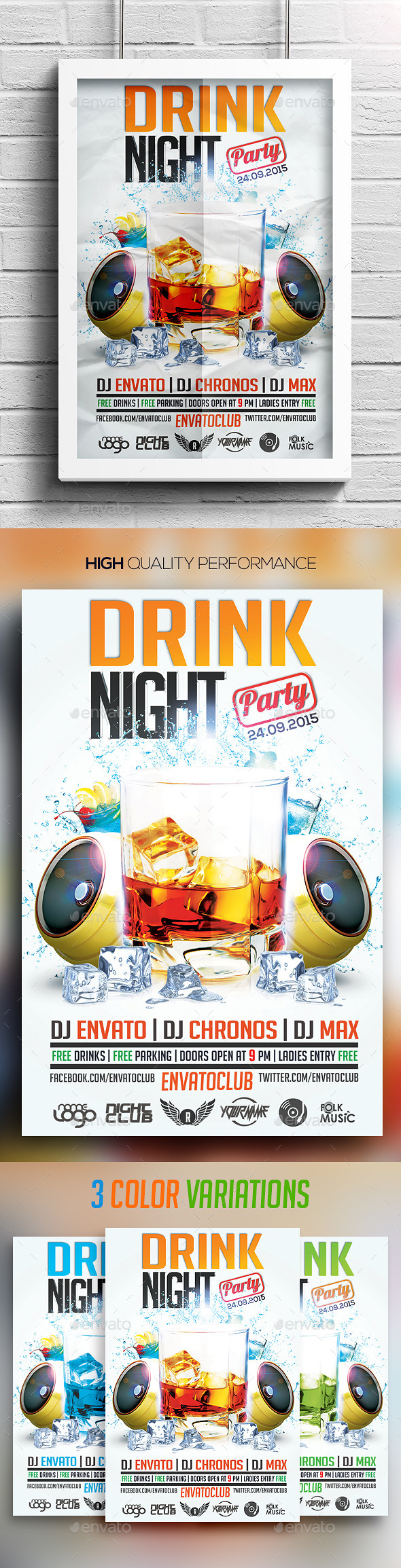 Drink Night Party Flyer - Clubs & Parties Events