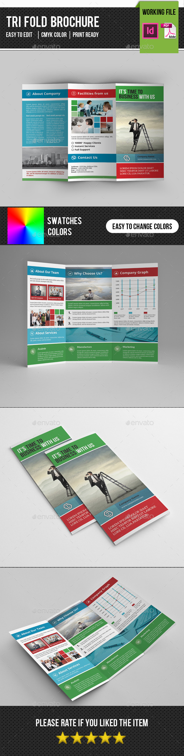 Corporate Trifold Brochure-V249 - Corporate Brochures