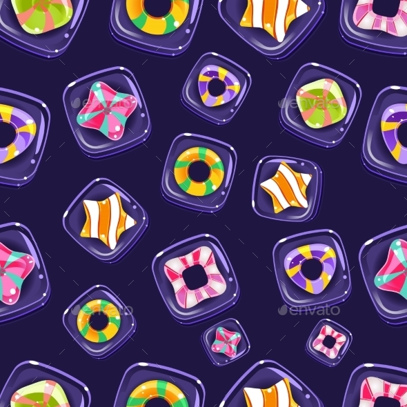Vector Seamless Background With Colorful Halloween