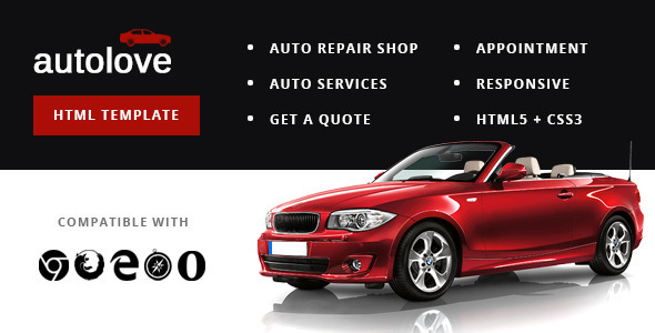 Autolove - Vehicle Repair Mechanic Shop Template - Business Corporate