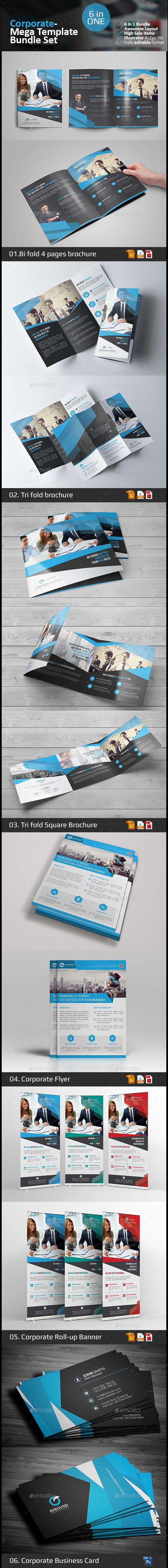 Corporate Branding Template Bundle - Corporate Brochures