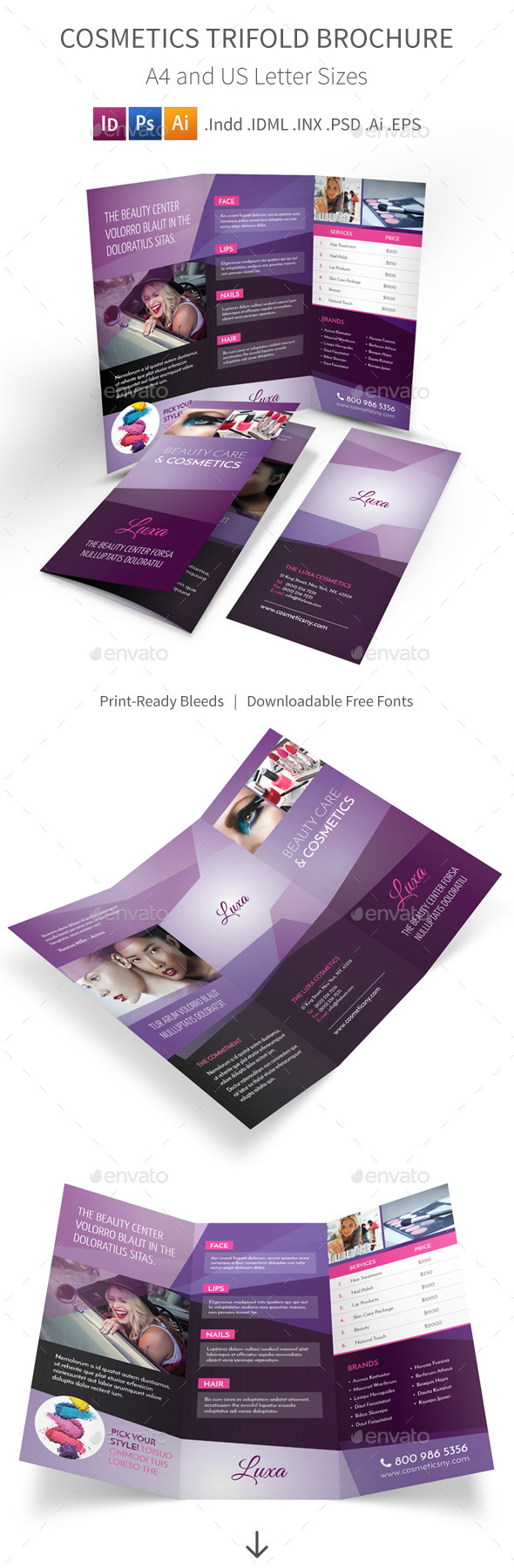Cosmetics Trifold Brochure