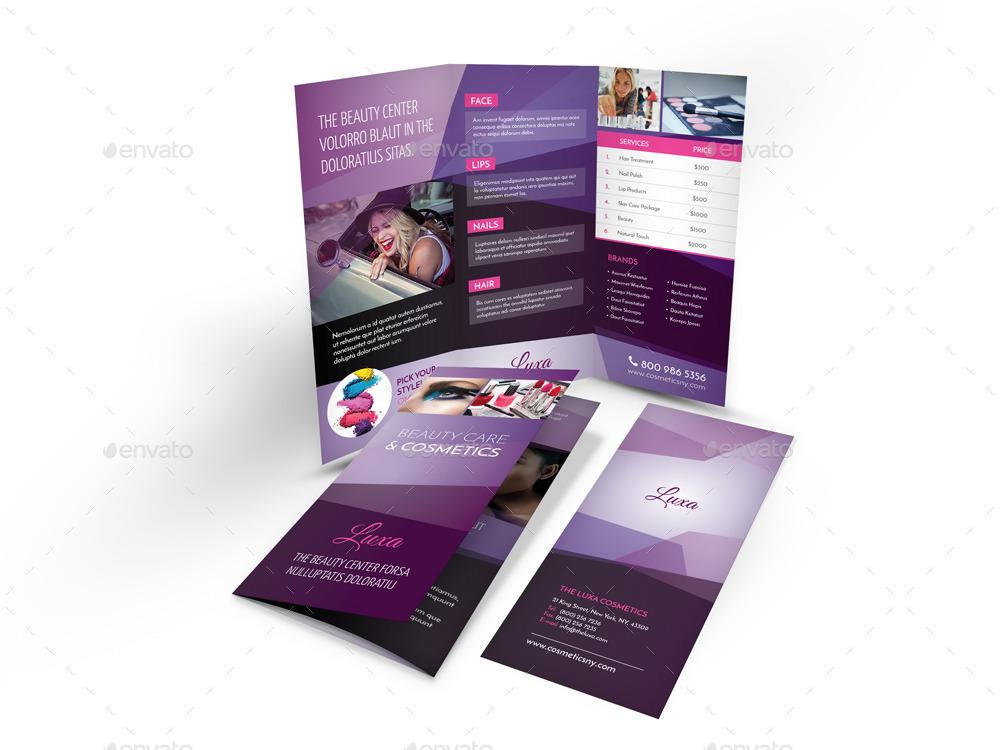 Cosmetics Trifold Brochure