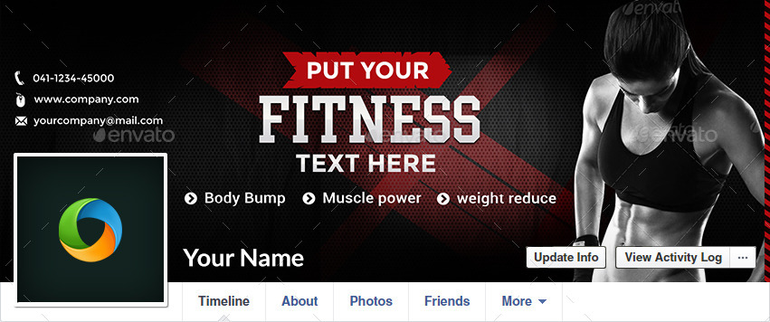 Fitness Facebook Covers - 10 Designs