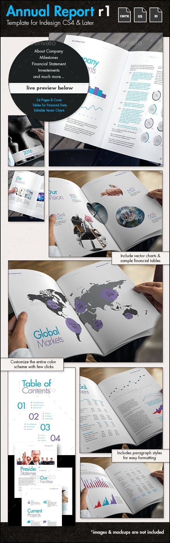 Annual Report Template r1 - US Letter - Corporate Brochures