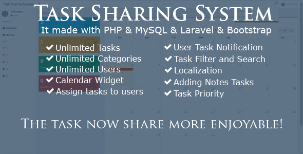 Task Sharing System - Laravel - CodeCanyon Item for Sale
