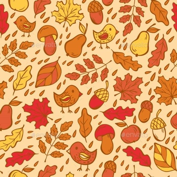 Autumn Doodles Pattern
