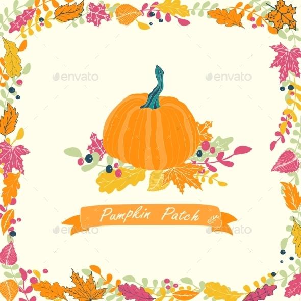 Pumpkin Patch Card Design.  - Flowers & Plants Nature