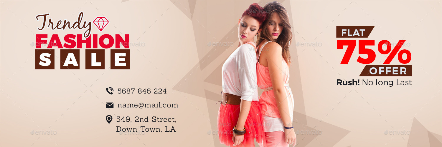 Fashion Sale Twitter Headers 2 Designs By Doto