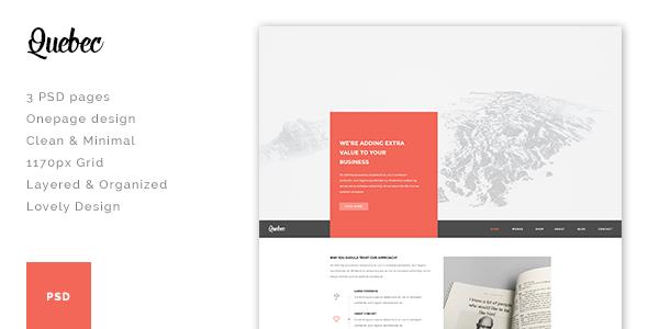 Quebec - Multi-Concept HTML Theme - Site Templates
