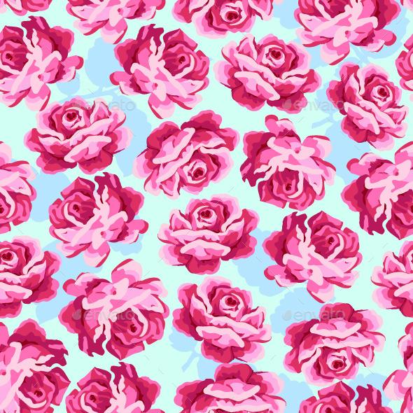 Vintage Roses Pattern. - Patterns Decorative