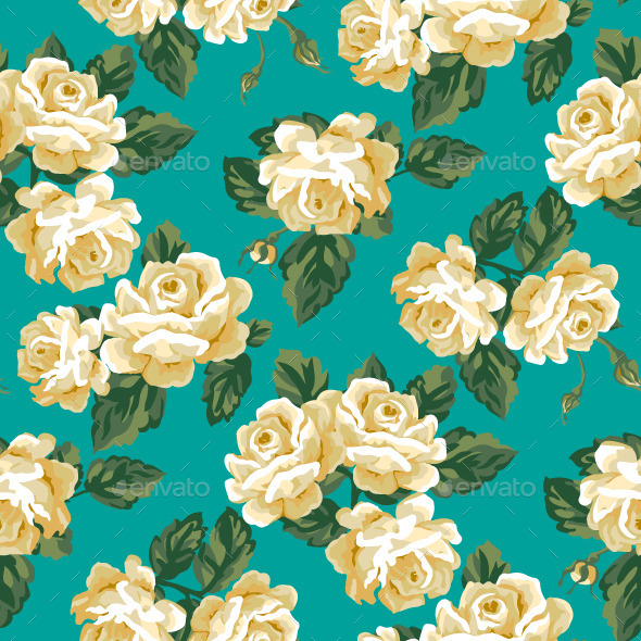Vintage Roses Seamless Pattern - Patterns Decorative