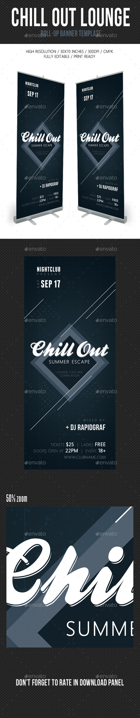 Chill Out Lounge Banner Template - Signage Print Templates