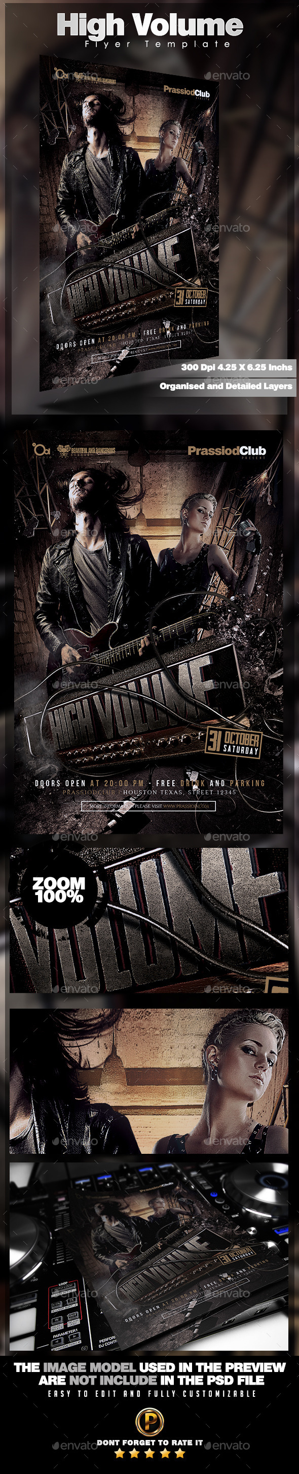 High Volume Flyer Template - Concerts Events