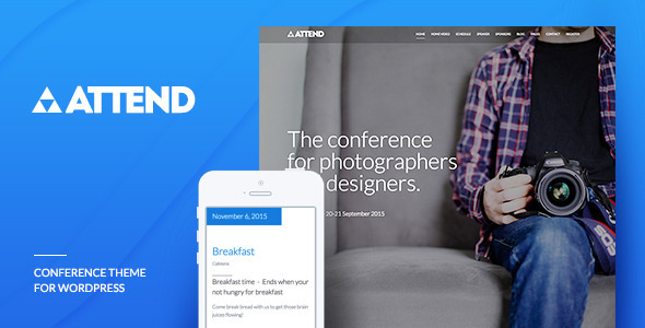 Conference & Event WordPress Theme - Attend - Marketing Corporate