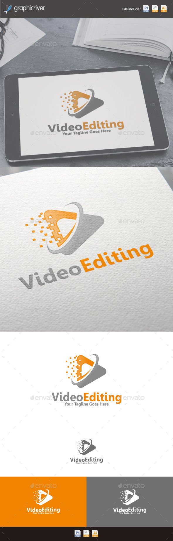 Video Editing Logo - Symbols Logo Templates