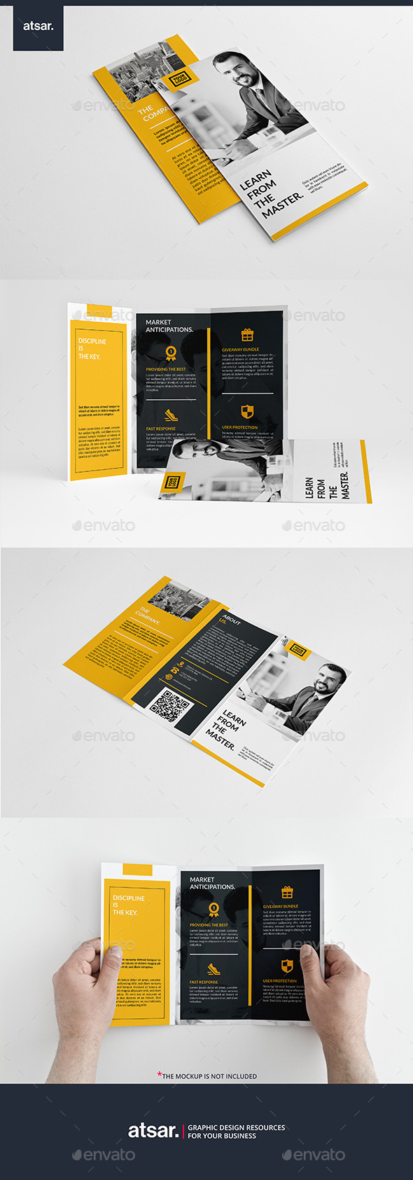 Modern Yellow Trifold
