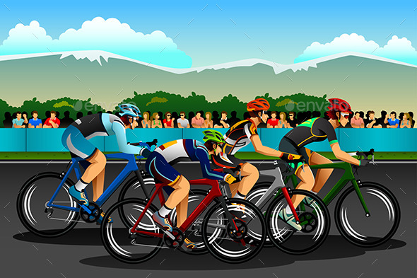 People Cycling in the Competition - Sports/Activity Conceptual